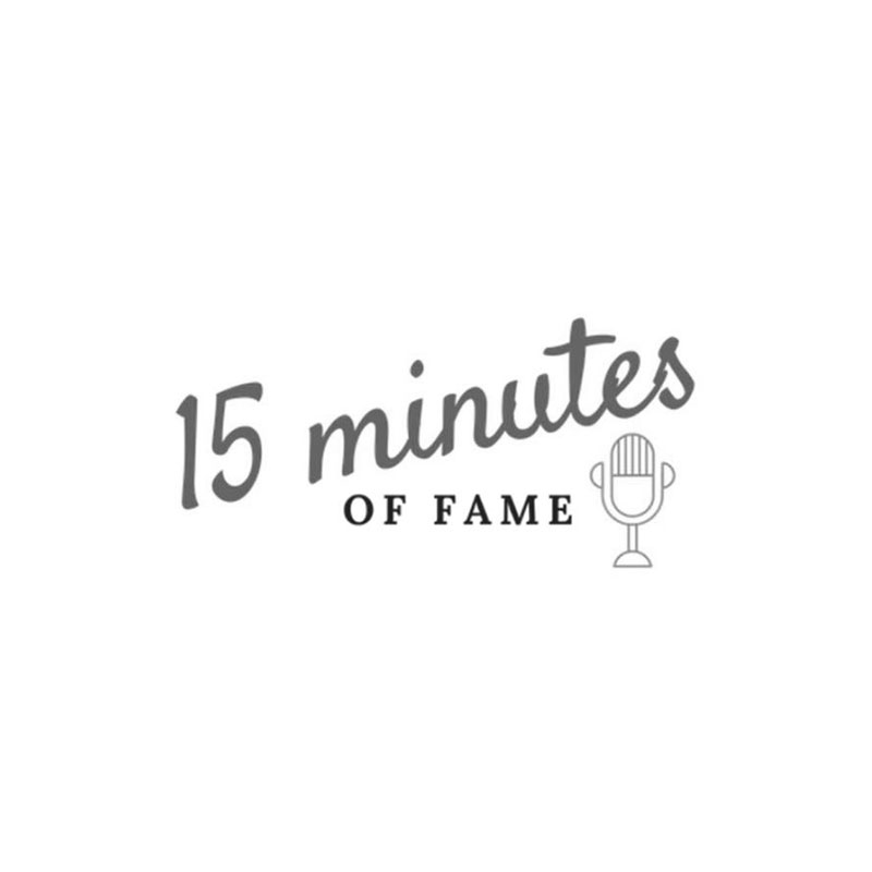 15 Minutes of Fame Podcast logo